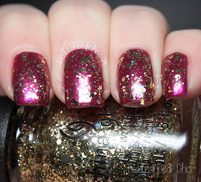 china glaze cheers holiday review swatches bring on the bubbly better not pout
