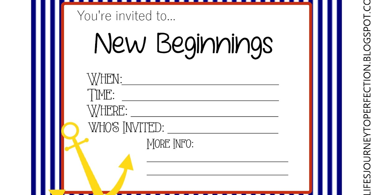 ... To Perfection: Young Women New Beginning Ideas & Free Printables 2015