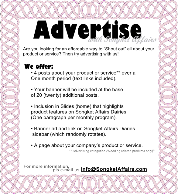 Inspiration Songket Affairs: Inspiration Songket Affairs : June 2012