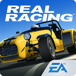 Real Racing 3 logo with Caterham 620R