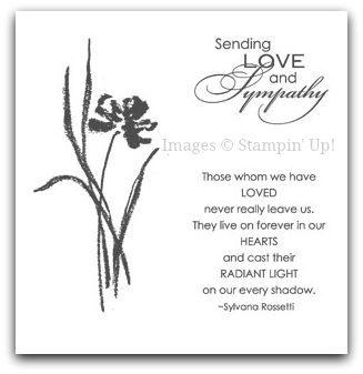 Stampin' Up! Love & Sympathy Stamp Set Artwork