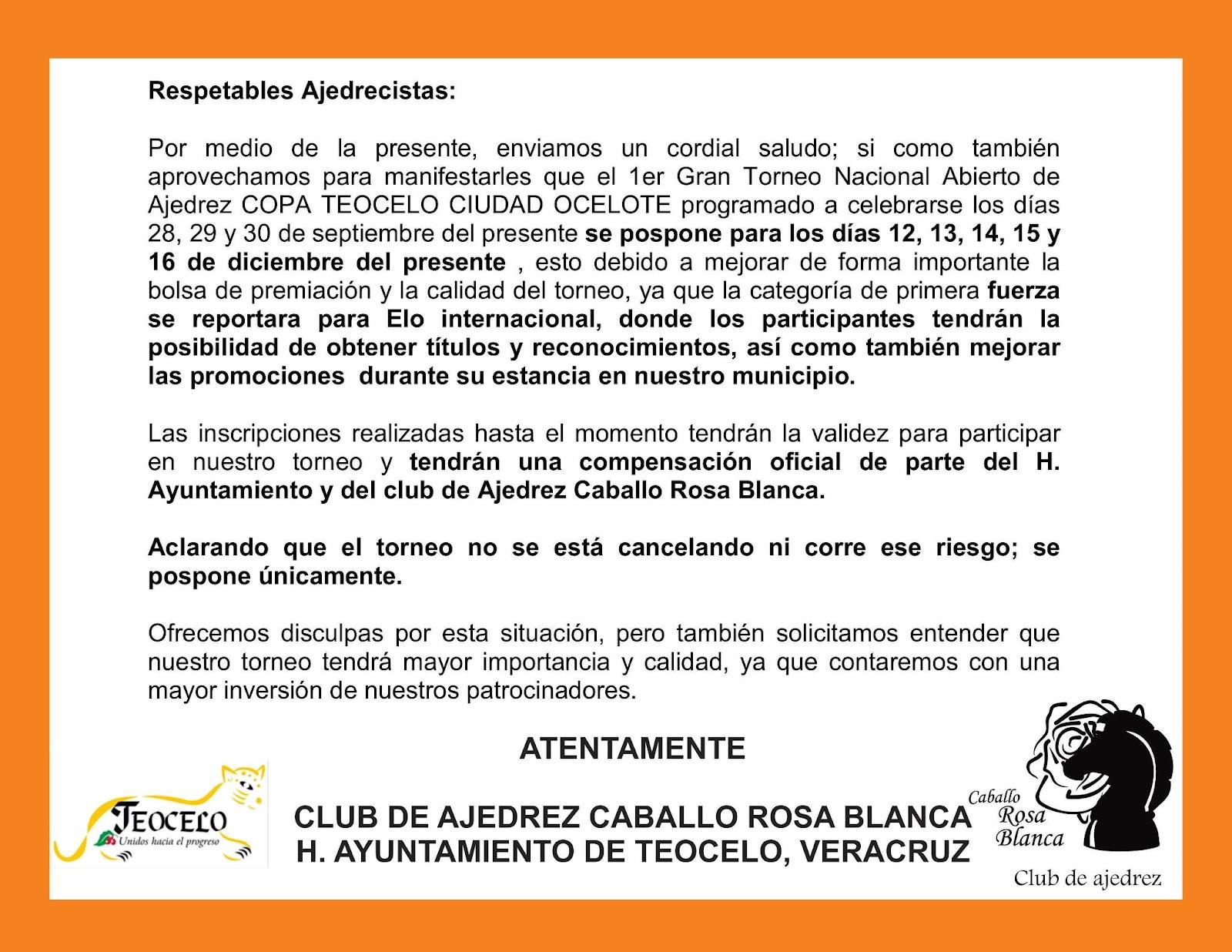 Suspendida Copa Teocelo