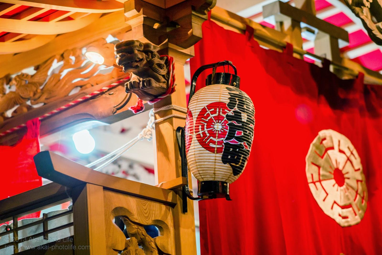 平井のお祭り、志茂町の山車の提灯