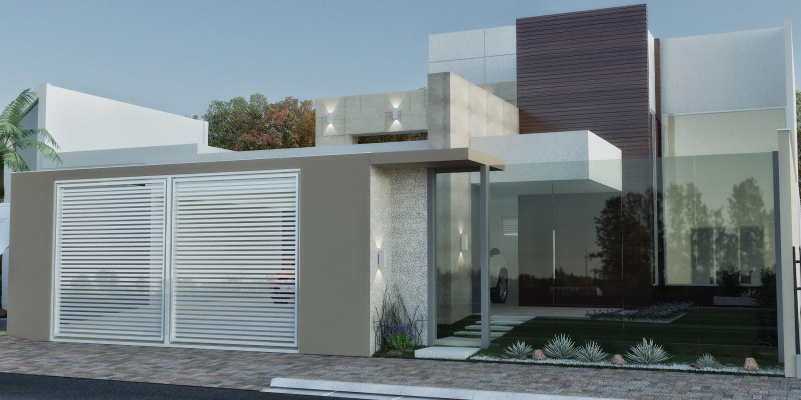 3dsul maquete eletr nica 3d projeto e fachada de casa for Fachadas de casas modernas con negocio