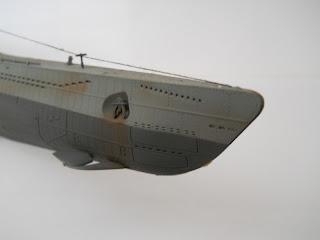 timones de proa del submarino aleman clase VII D