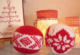 Новогодние шары с норвежскими узорами