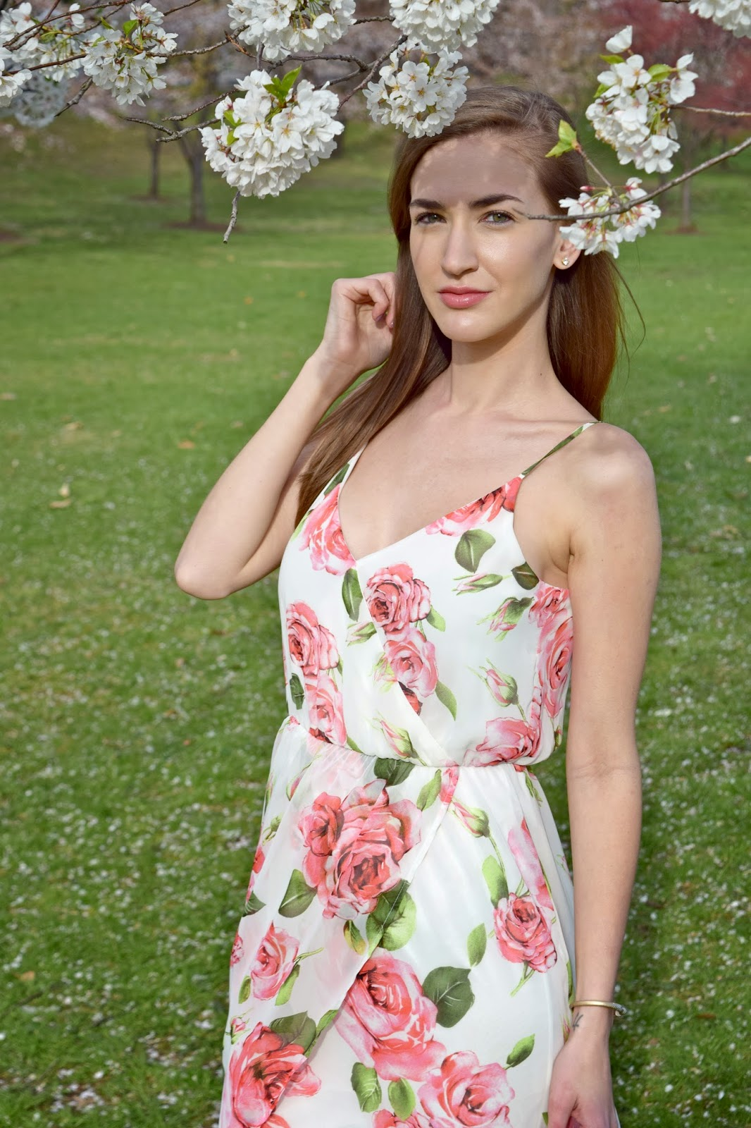 Wearing Lush Tulip Hem Floral Maxi Dress, Nordstrom Floral Dress, Spring time dresses