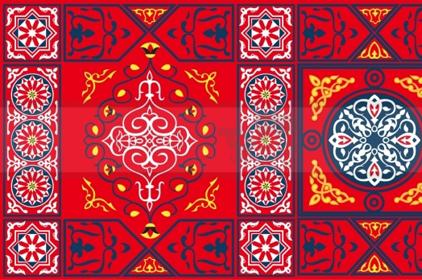 مفارش مائدة رمضان مفروشات خيامية اقمشة الخيام الرمضاني قماش تزين المنزل  قماش
