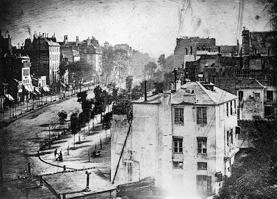 Boulevard du Temple+Paris+daguerrotipo+primera persona fotografiada
