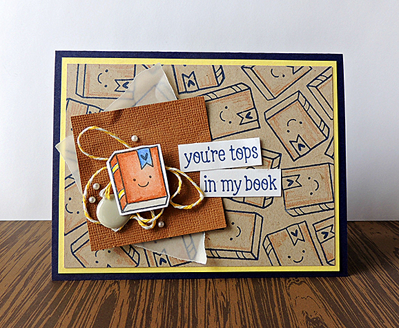 You're Tops In My Book / Avery Elle Card By She Zig Zags