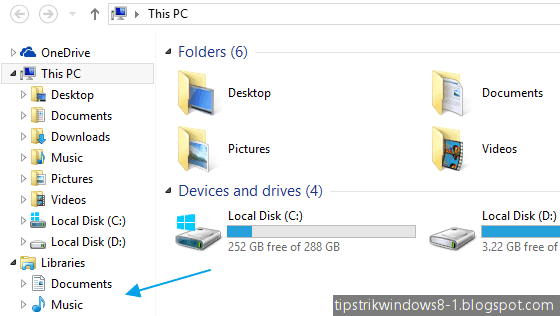 cara menampilkan libraries dan menghilangkan favorites di file explorer windows 8.1