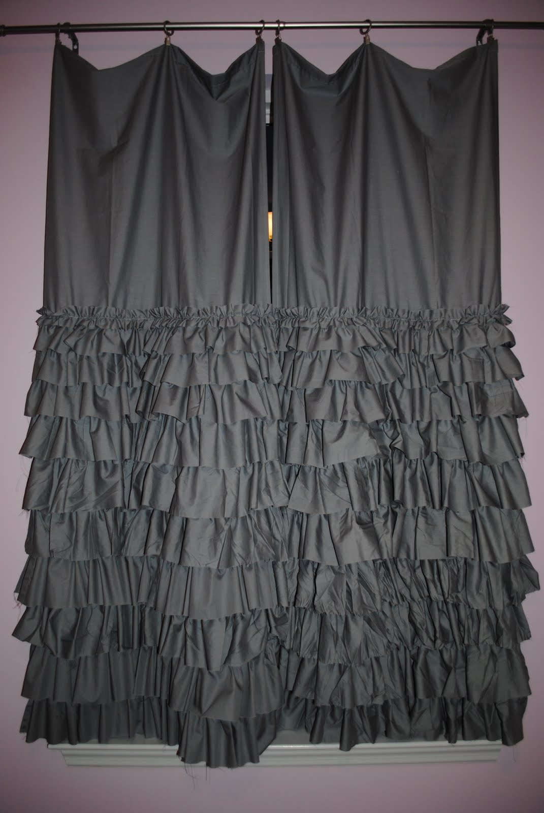 a drop in the bucket: layered ruffle curtain tutorial Ruffled Curtains