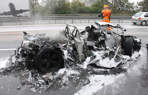 Pictures of Expensive Car Crashes and Wrecks