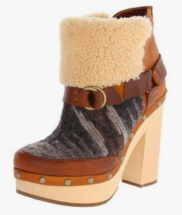 Woolrich wool and leather shearling ankle boot