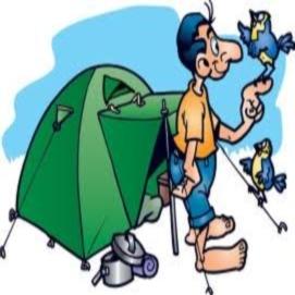 Отдых дикарем в палатках