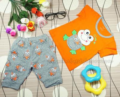 Bộ Ếch Con màu Cam - babystyle.com.vn