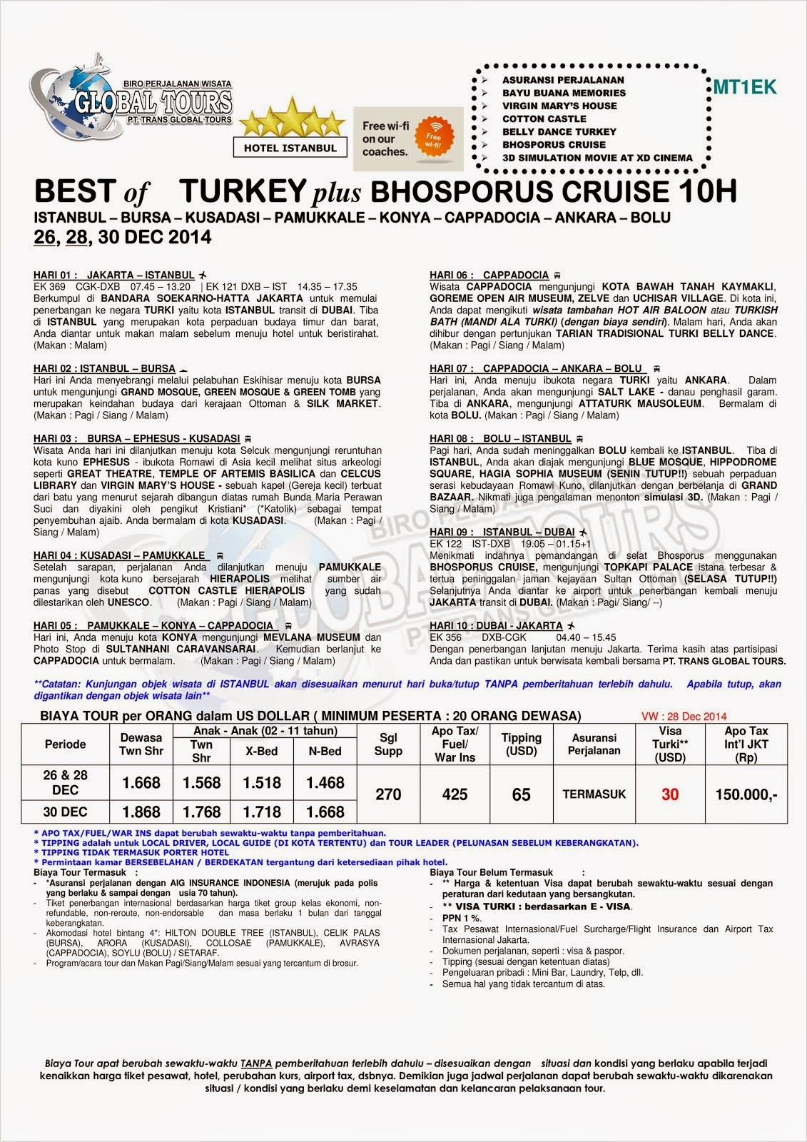 BEST OF TURKEY PLU BHOSPORUS CRUISE