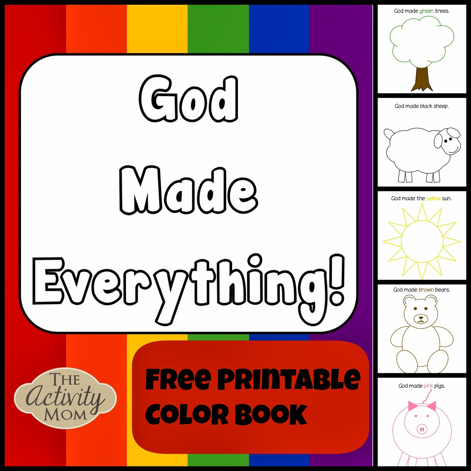 The Activity Mom - God Made Everything Colors Book (printable) - The ...