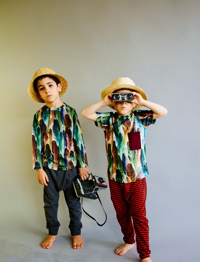 Wolf & Rita Spring-Summer 2015 kids fashion - feather tees