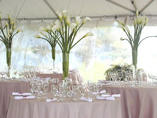 Bridal Table Centerpieces