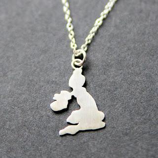 British Isles silver pendant
