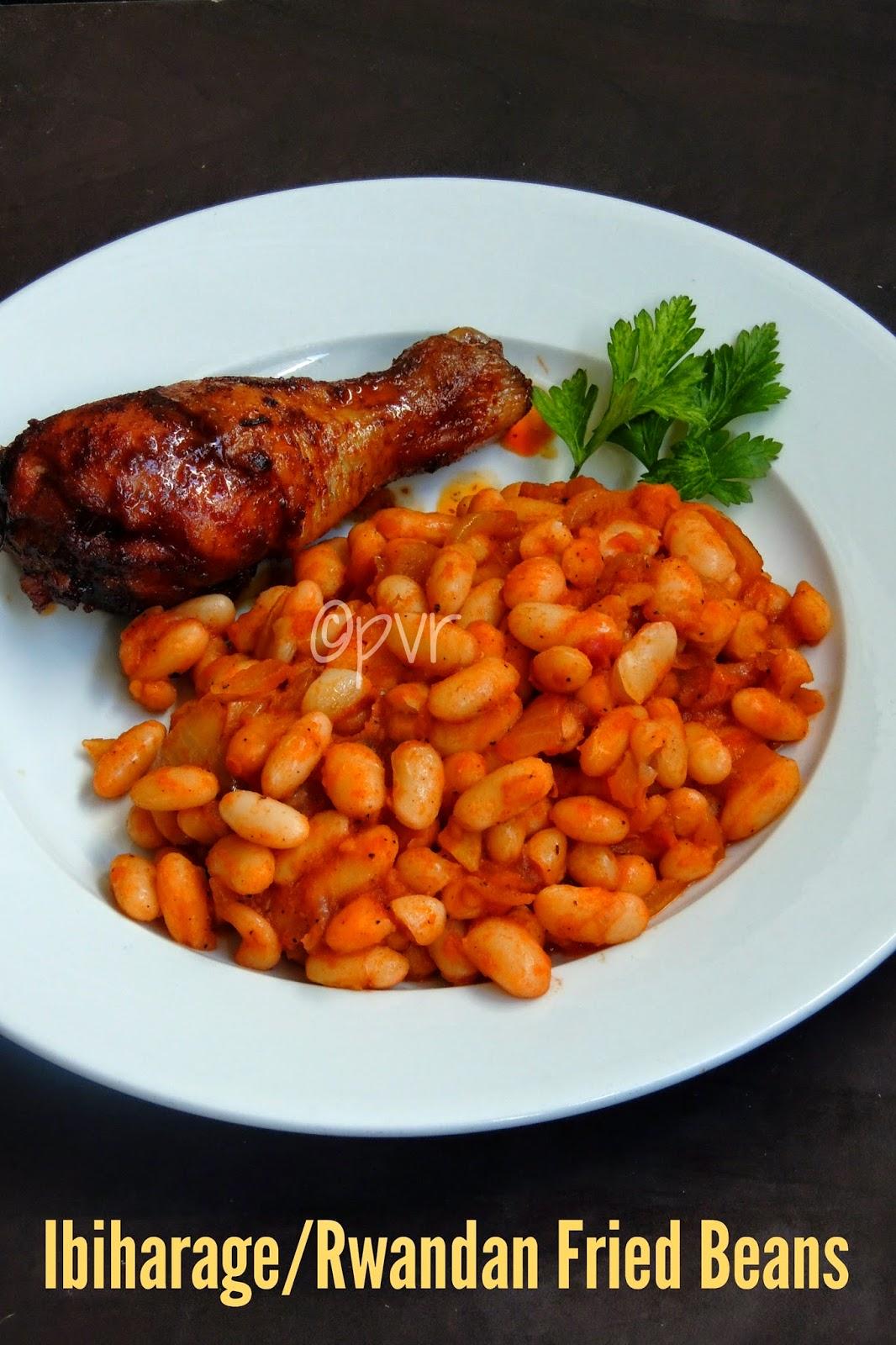 Rwandan beans, Fried Beans in Rwandan style, Ibiharage