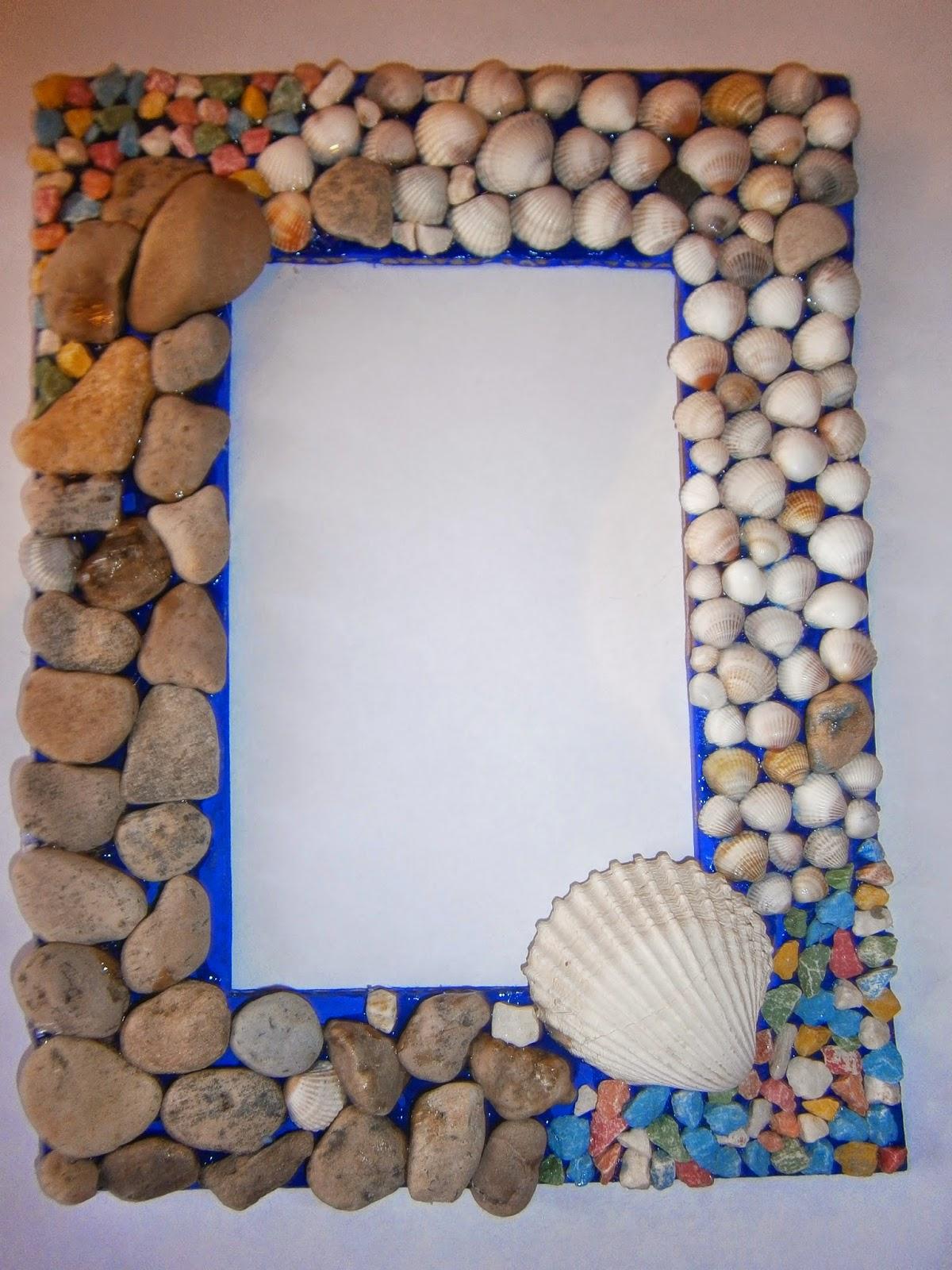 рамка своими руками из ракушек и камней