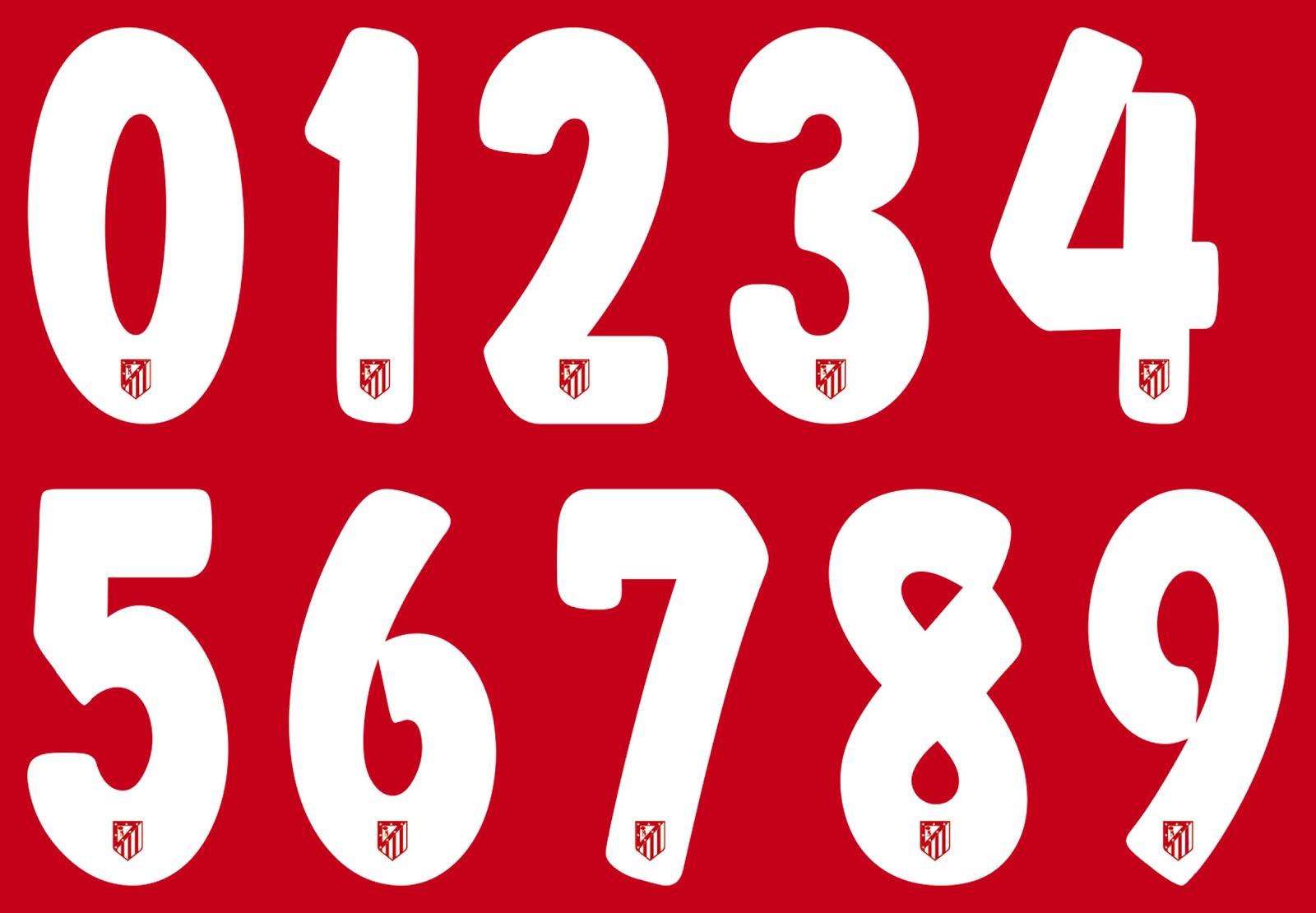 atl 233 tico madrid reveal new font for 15 16 kits footy headlines