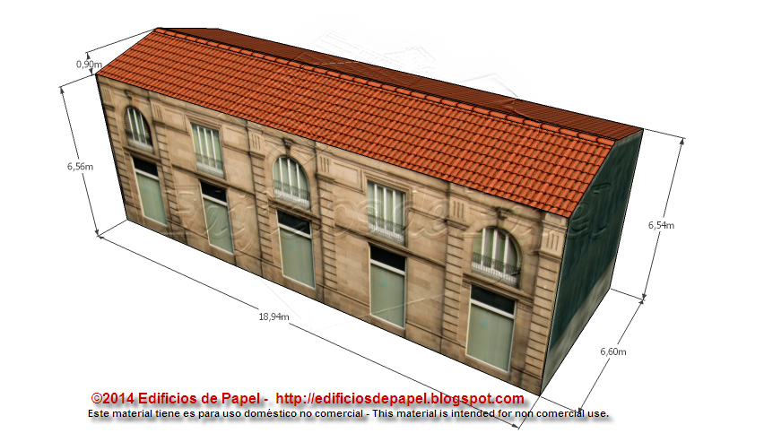 Freestyle design of the rear façade of the paper model
