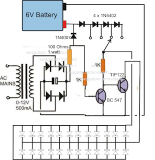 emergency light circuit and their construction and working,application of emergency light