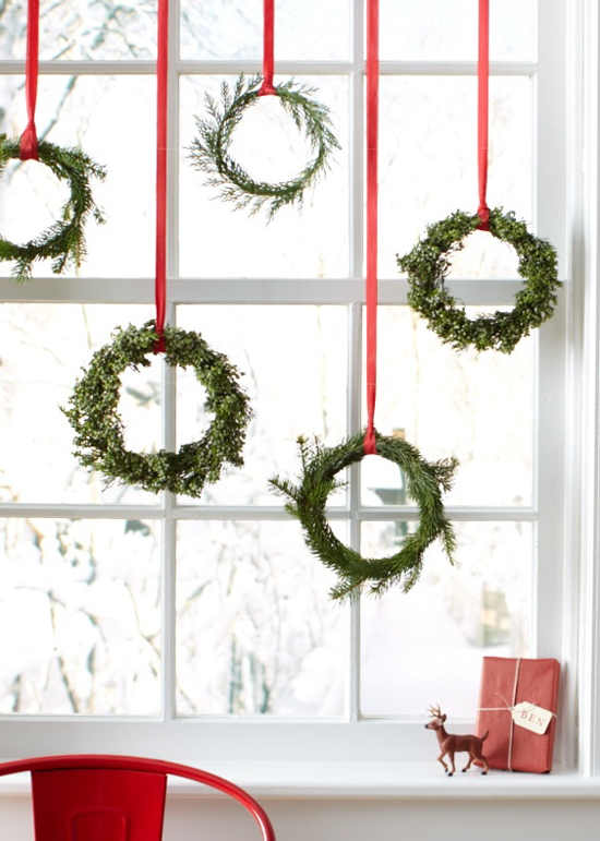 Decorate your kitchen for christmas my paradissi Simple christmas wreaths