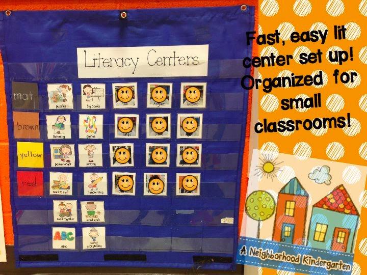 Kindergarten Calendar Center : A neighborhood kindergarten setting up your literacy