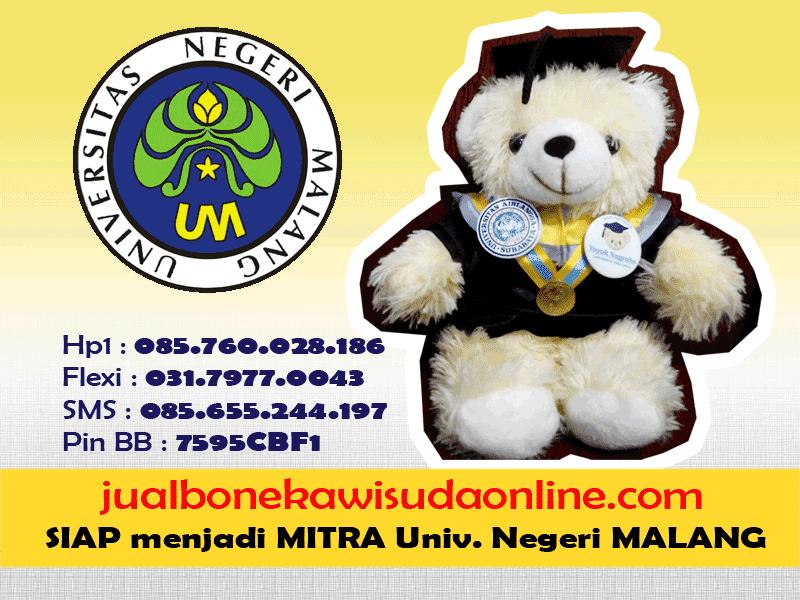 Boneka Wisuda UNM | Jual Boneka Wisuda Universitas Negeri Malang