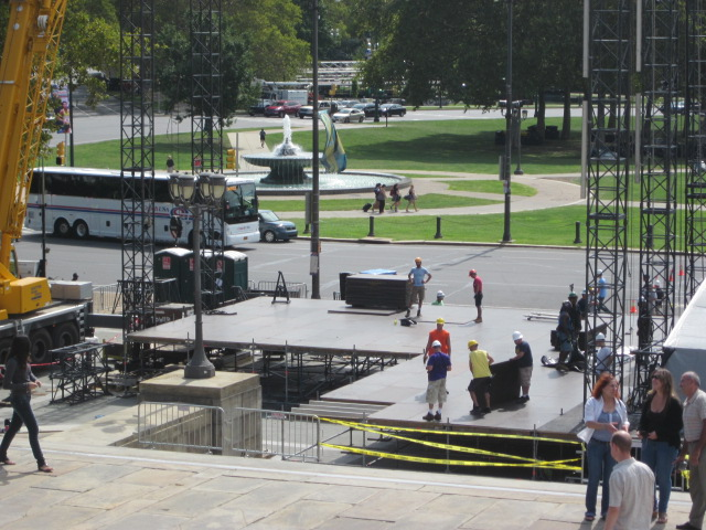 The stage was being built for the Labor Day weekend concert  Made in America  Budweiser Music Festival. & Delco Daily Top Ten: Top 10 Photo Tips