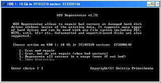 memperbaiki Hardisk Bad Sector dengan Hiren BootCD