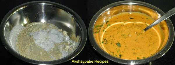besan and other ingredients mixed