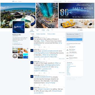 Page Twitter Radisson Blu