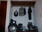 My stuff, minus my normal glasses, they are still in Playa Azul.