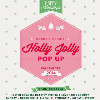 Holly Jolly Pop Up this Sunday – DIY, food + beverages, style, beauty, wedding, and more!