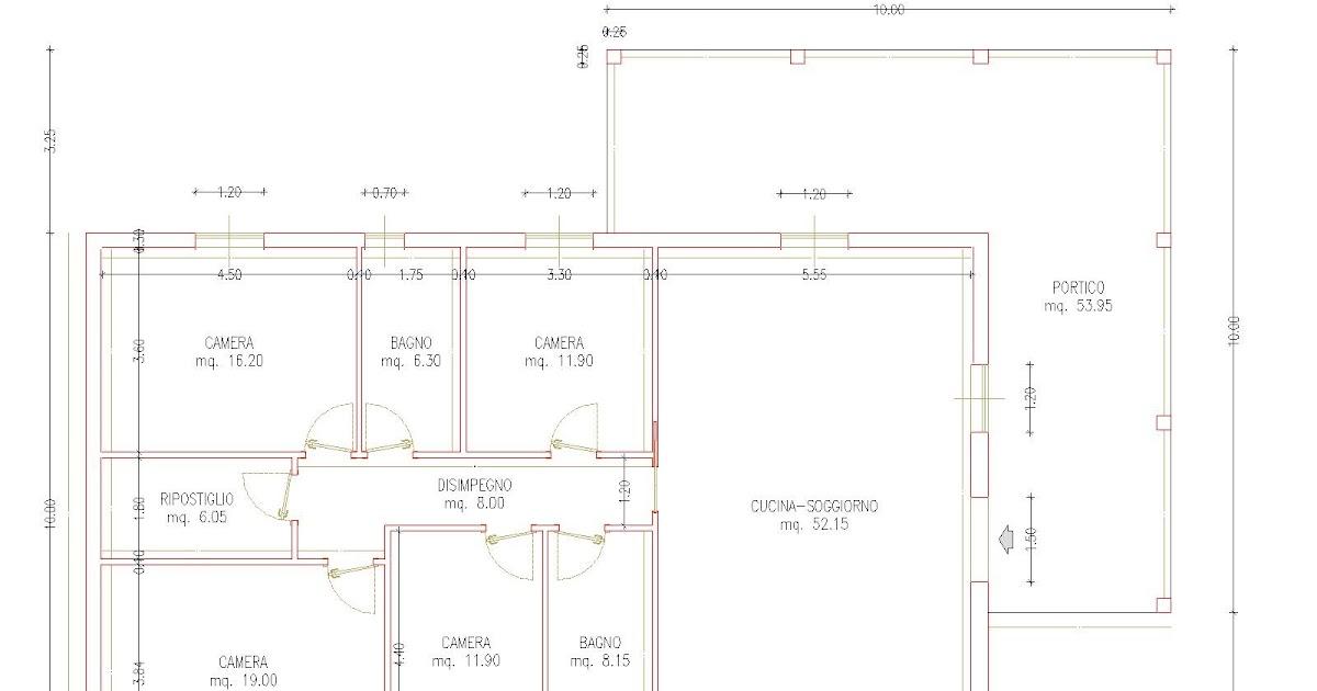Progetti di case in legno casa 160 mq portico 54 mq for Progetti di portico anteriore