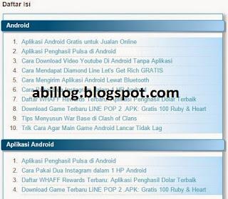 Tutorial Cara Membuat Sitemap (Daftar Isi) Suatu Blog Berdasarkan Label/Kategori