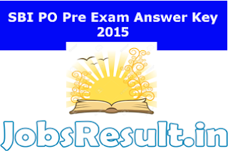 SBI PO Pre Exam Answer Key 2015