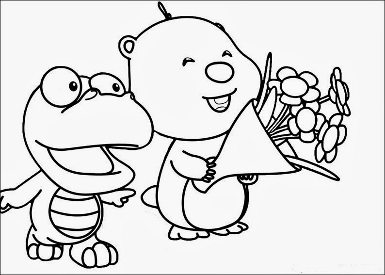 Fun coloring pages pororo coloring pages for Pororo coloring pages