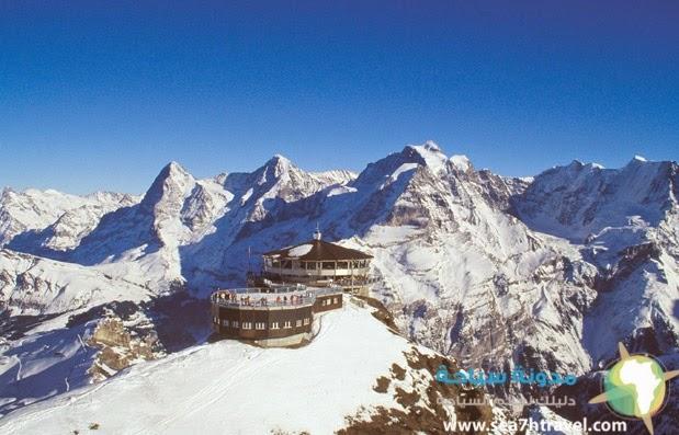 جبل وقمة شيلتورن في سويسرا Schilthorn