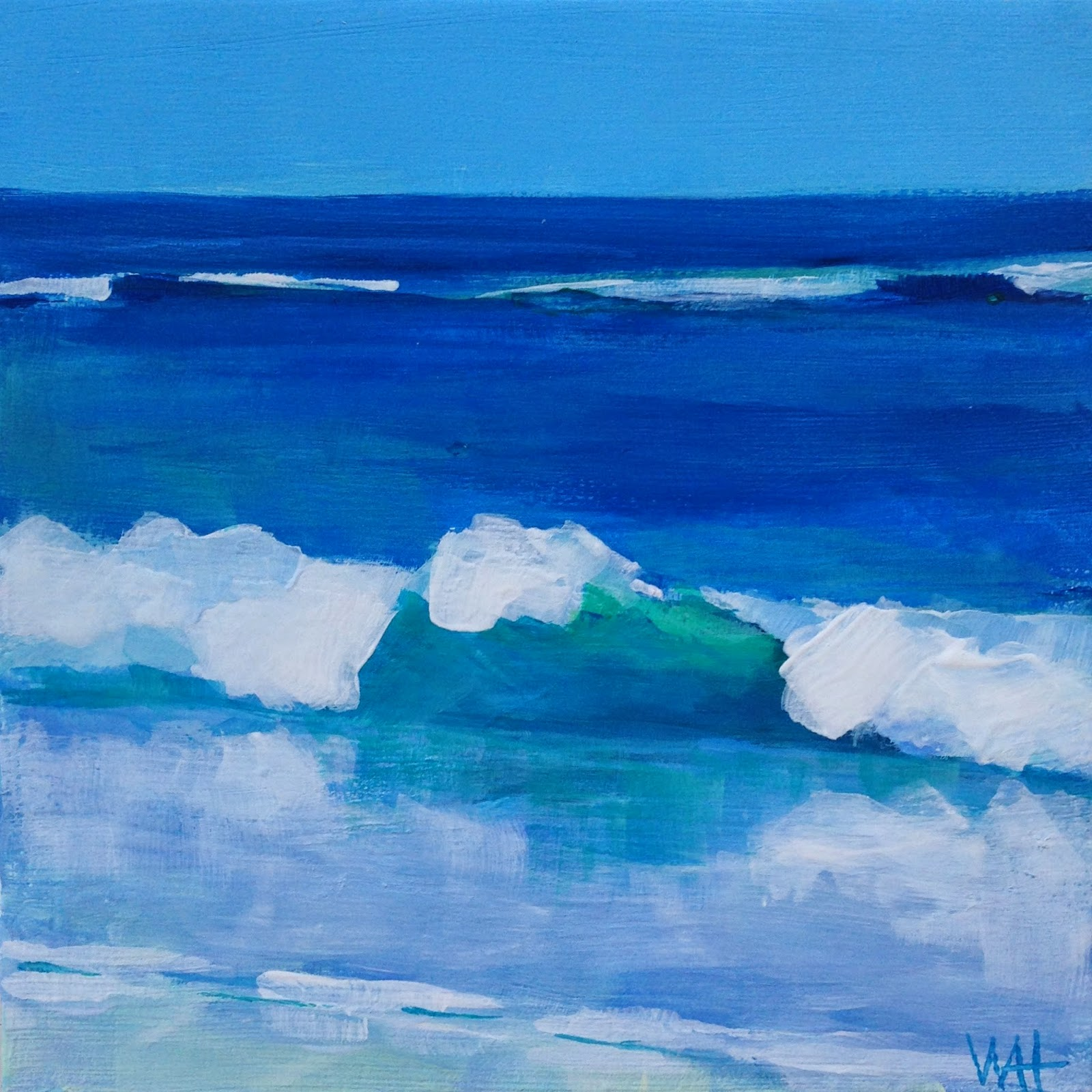 Cape Cod wave painting by Whitney Heavey artist
