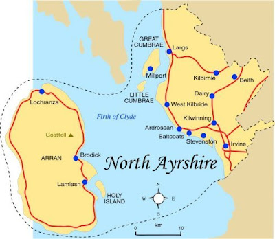 Map of North Ayrshire Province Area