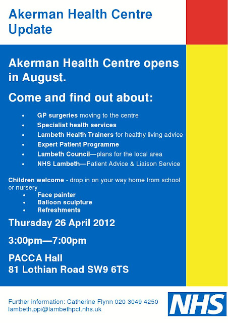Akerman Health Centre flyer