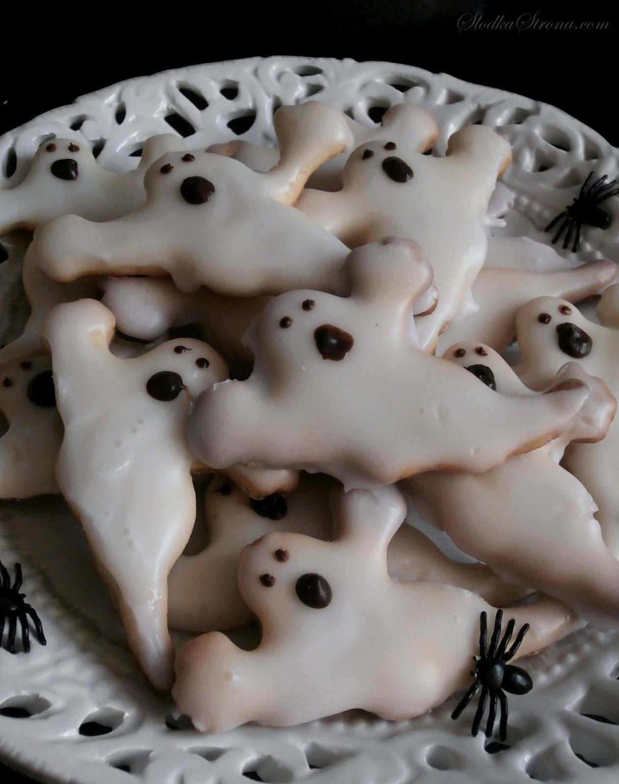 Ciasteczka z Lukrem - Duchy na Halloween - Przepis - Słodka Strona