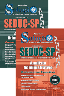 Apostila SEDUC SP &#8211; Analista Administrativo &#8211; 2013