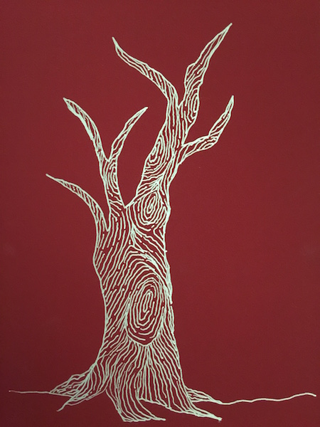 grained zentangle tree